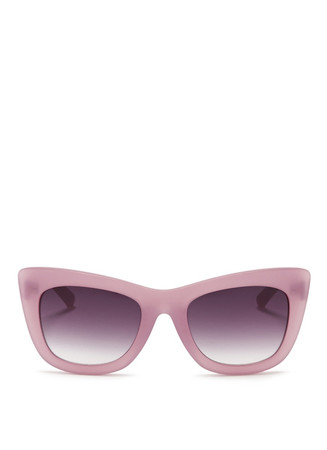 Frosted acetate cat eye sunglasses