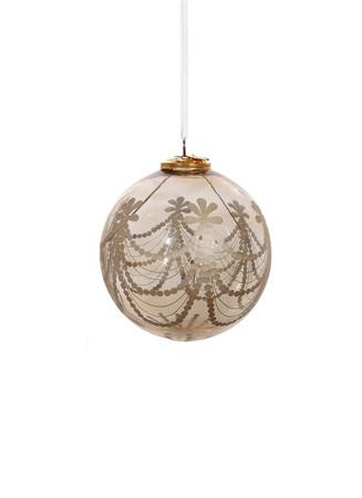 Garland print Christmas ornament