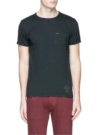 Garment dyed cotton T-shirt