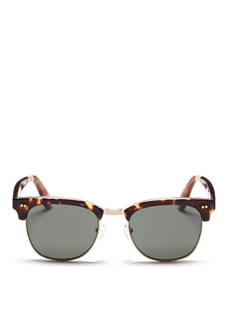 'Gavin' metal rim acetate browline sunglasses