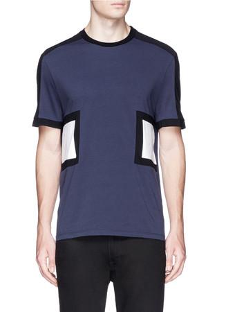 Geometric colourblock cotton T-shirt