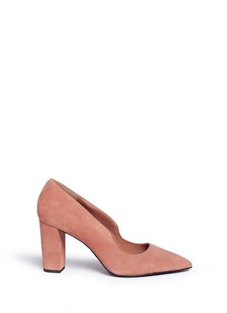 'Getta' suede chunky heel pumps
