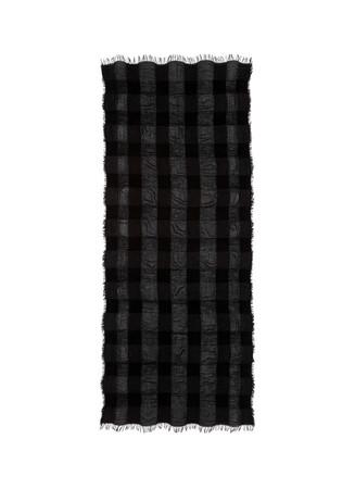 'Gigi' check modal-cashmere blend scarf