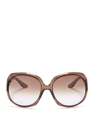 'Glossy 1' oversize acetate sunglasses