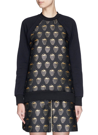 'Gold Lurex Strawberry' jacquard Sophie sweatshirt