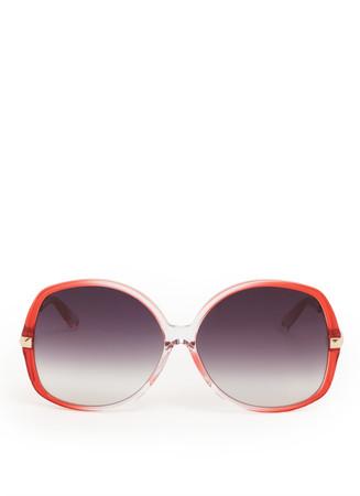 Graduated oversized round frame sunglasses