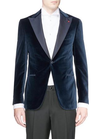 'Gregory' velvet tuxedo blazer