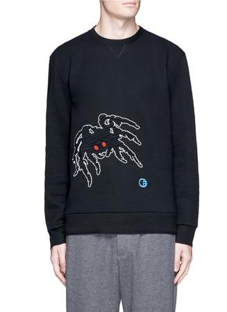 'Groovin Spider' embroidered sweatshirt