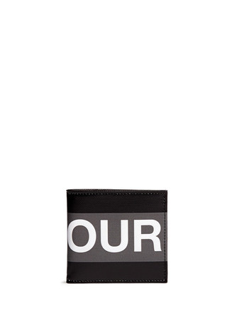 'HONOUR' ink jet print coated billfold wallet