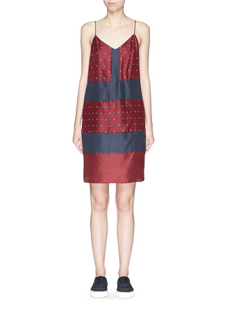 'Harris' patchwork silk dress