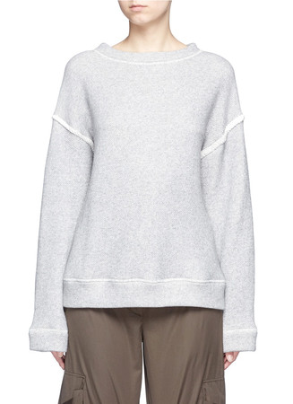 Heavy loop back terry oversized sweater