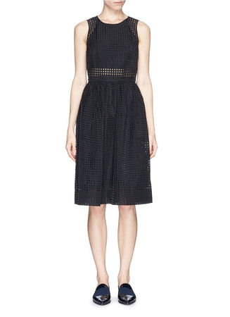 'Heidi' gridwork dress