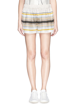 'Holten' stripe silk shorts