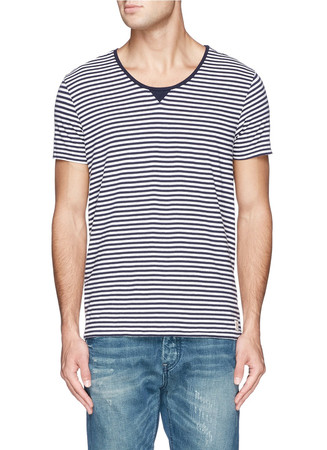 'Home Alone' stripe cotton jersey T-shirt