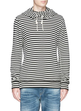 'Home Alone' stripe twisted hoodie
