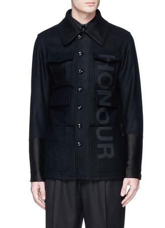 'Honour' felted wool military coat