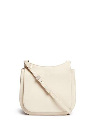 'Hunting' large grainy leather shoulder bag