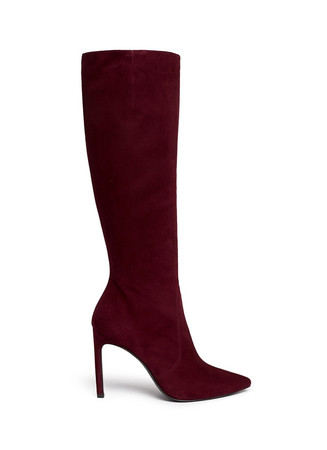 'Hyper' suede knee high boots