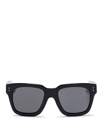 Iconic D-frame snakeskin temple acetate sunglasses