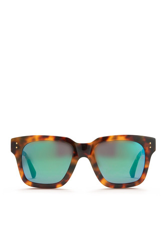 'Iconic' D-frame tortoiseshell acetate sunglasses
