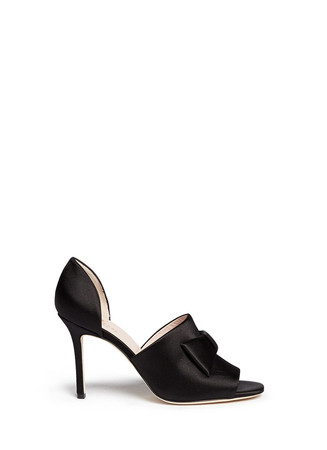 'Idda' bow satin sandals