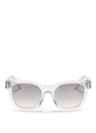 Inlaid Rockstud acetate sunglasses