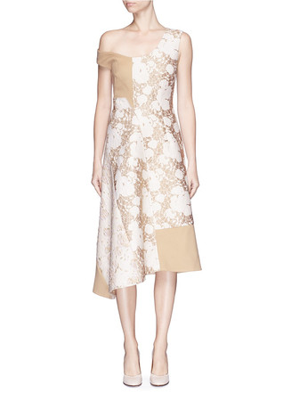 'Jackie' metallic floral brocade dress