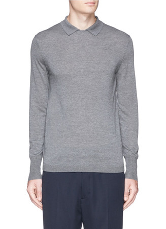 'Janeck' Merino wool polo sweater