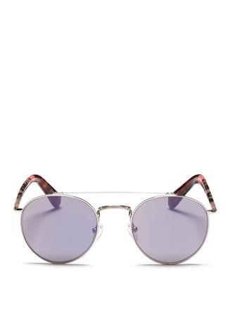 'Jarrett' round mirror aviator sunglasses
