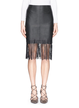 'Jaxson' fringe leather skirt