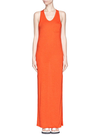 Jersey racerback maxi dress