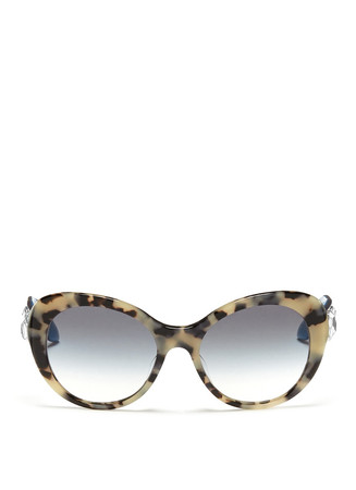 Jewel temple tortoiseshell acetate sunglasses
