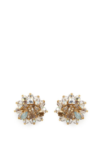Jeweled geometric earrings