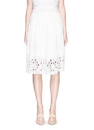 'Joanna' embellished hem midi skirt
