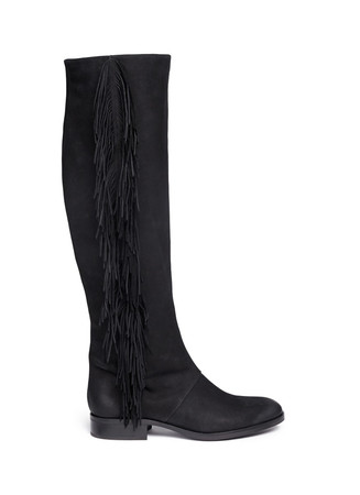 'Josephine' fringe leather boots