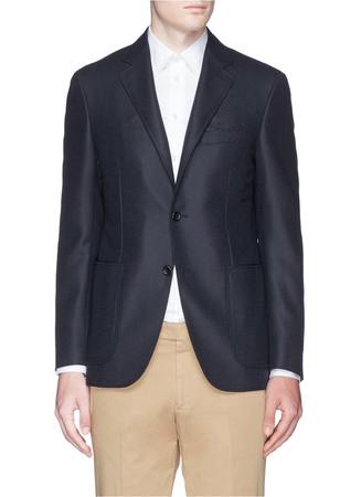 'Kei' hopsack wool-cashmere blazer