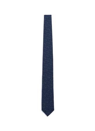 Knit print wool tie