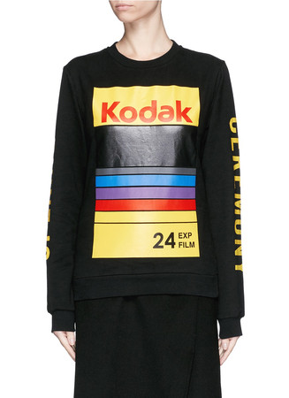 'Kodak' print cotton sweatshirt