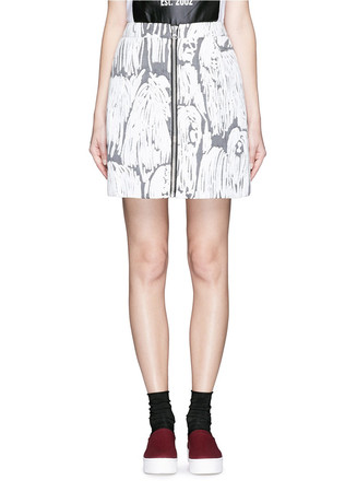 'Komondor' quilted jacquard mini zip skirt