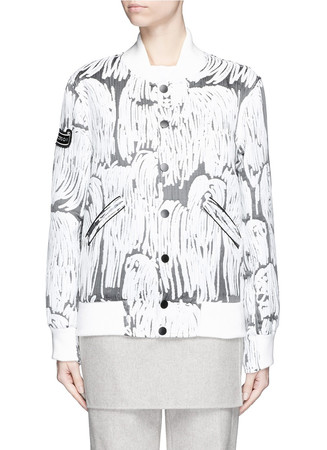 'Komondor' quilted jacquard varsity jacket