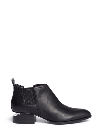 'Kori' cutout heel leather ankle boots