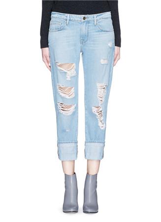 'LE GRAND GARÇON' distressed jeans