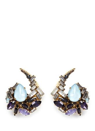 'Lady of the Lake' Swarovski crystal swirl earrings