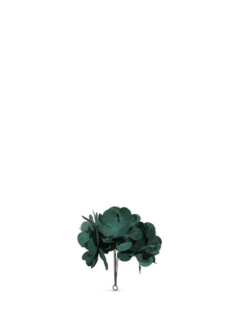 Large metal flower bundle Christmas ornament