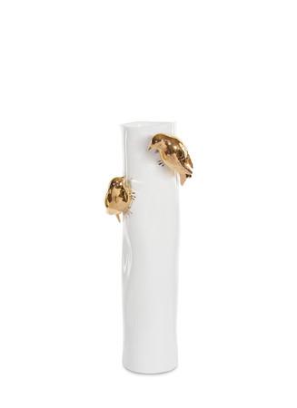 Large metallic bird vase