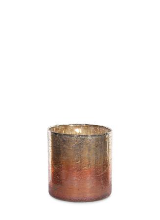 Large metallic gradient votive candleholder