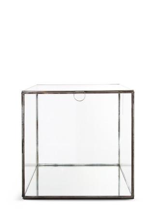 Large mirror base glass box