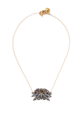 'Larkspur' crystal pavé pendant necklace