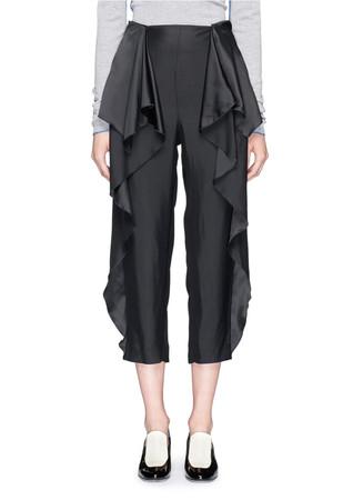 'Layton' ruffle peplum cropped pants