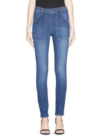 'Le Skinny de Françoise' patchwork pocket skinny jeans